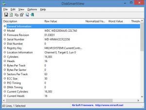 Enlarge DiskSmartView Screenshot