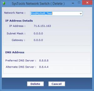 Enlarge SysTools Network Switch Screenshot