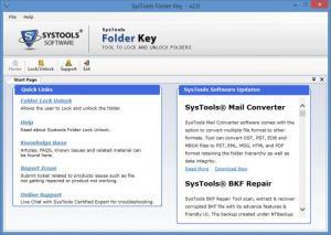 Enlarge SysTools Folder Key Screenshot