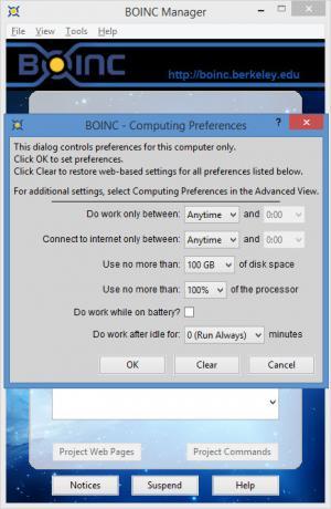 Enlarge BOINC Manager Screenshot