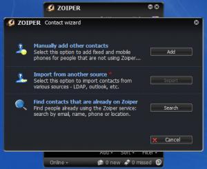 Enlarge Zoiper Screenshot