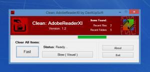 Enlarge Clean: AdobeReaderXI Screenshot