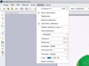 Enlarge Klonk Image Measurement Screenshot
