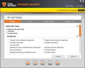 Enlarge Total Defense Internet Security Suite Screenshot