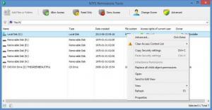 Enlarge NTFS Permissions Tools Screenshot