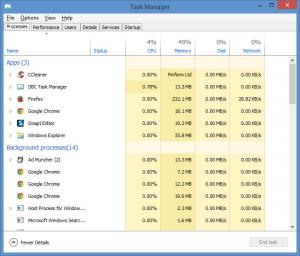 Enlarge DBC Task Manager Screenshot