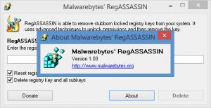 Enlarge Malwarebytes RegASSASSIN Screenshot