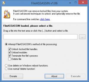 Enlarge Malwarebytes FileASSASSIN Screenshot