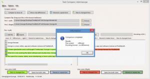 Enlarge Adminscope Text Compare Screenshot