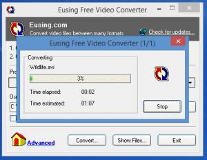 Enlarge Eusing Free Video Converter Screenshot