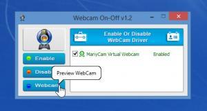 Enlarge WebCam On-Off Screenshot