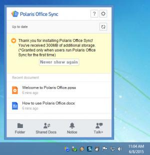 Enlarge Polaris Office Sync Screenshot