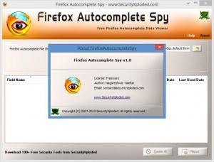 Enlarge Firefox Autocomplete Spy Screenshot
