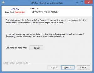 Enlarge JPEXS Free Flash Decompiler Screenshot