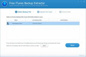 Enlarge iTunes Backup Extractor Screenshot