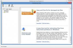 Enlarge DiskInternals Linux Reader Screenshot