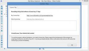 Enlarge My Menu Explorer Screenshot