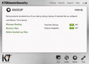 Enlarge K7 Ultimate Security Screenshot