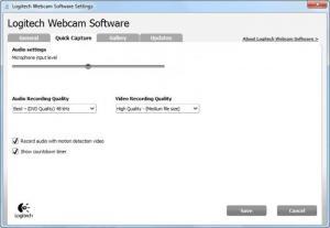Enlarge Logitech Webcam Software Screenshot