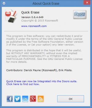 Enlarge Quick Erase Screenshot