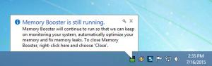 Enlarge Rizonesoft Memory Booster Screenshot