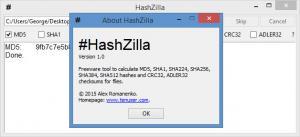 Enlarge HashZilla Screenshot