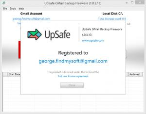 Enlarge UpSafe Gmail Backup Screenshot