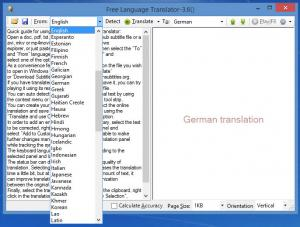 Enlarge Free Language Translator Screenshot