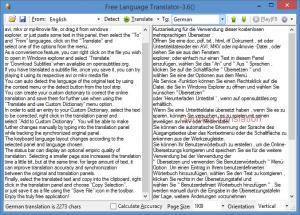 Enlarge Free Language Translator Screenshot