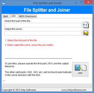 Enlarge File Splitter and Joiner Screenshot