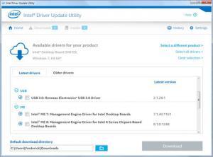 Enlarge Intel Driver Update Utility Screenshot