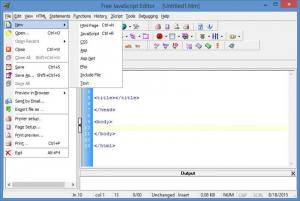 Enlarge Free JavaScript Editor Screenshot