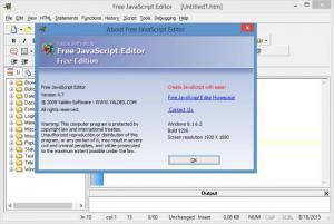 Enlarge Free JavaScript Editor Screenshot