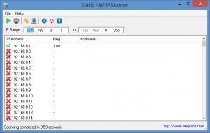 Enlarge SterJo Fast IP Scanner Screenshot