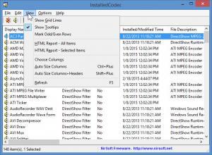 Enlarge InstalledCodec Screenshot