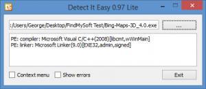 Enlarge Detect It Easy Screenshot