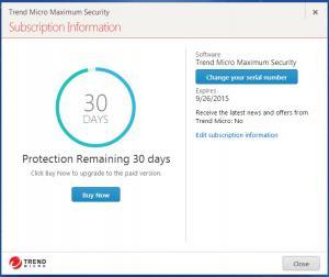 Enlarge Trend Micro Maximum Security Screenshot