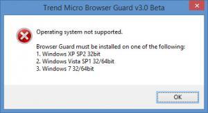 Enlarge Trend Micro Browser Guard Screenshot