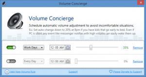 Enlarge Volume Concierge Screenshot