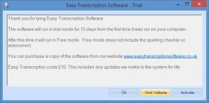 Enlarge Easy Transcription Software Screenshot