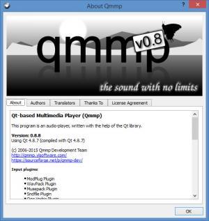 Enlarge Qmmp Screenshot