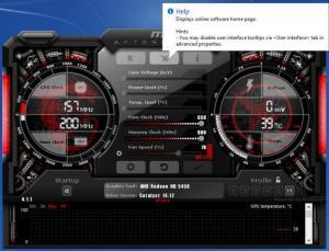 Enlarge MSI Afterburner Screenshot