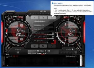 Enlarge MSI Afterburner Screenshot