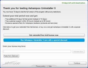 Enlarge Ashampoo UnInstaller Screenshot