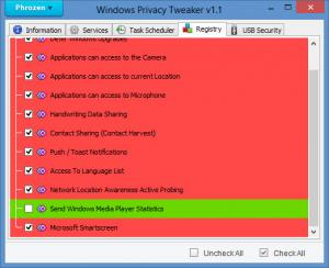 Enlarge Windows Privacy Tweaker Screenshot
