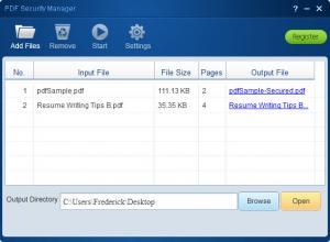 Enlarge Lighten PDF Security Manager Screenshot