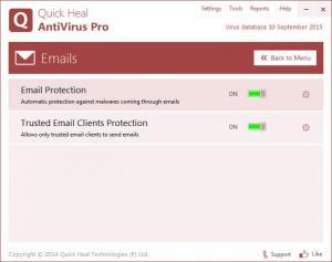Enlarge Quick Heal AntiVirus Screenshot
