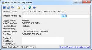 Enlarge Windows Product Key Viewer Screenshot