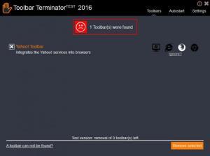 Enlarge ToolbarTerminator Screenshot