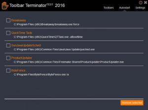 Enlarge ToolbarTerminator Screenshot